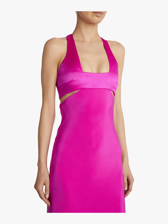 Sleeveless Midi Flare Dress Cushnie