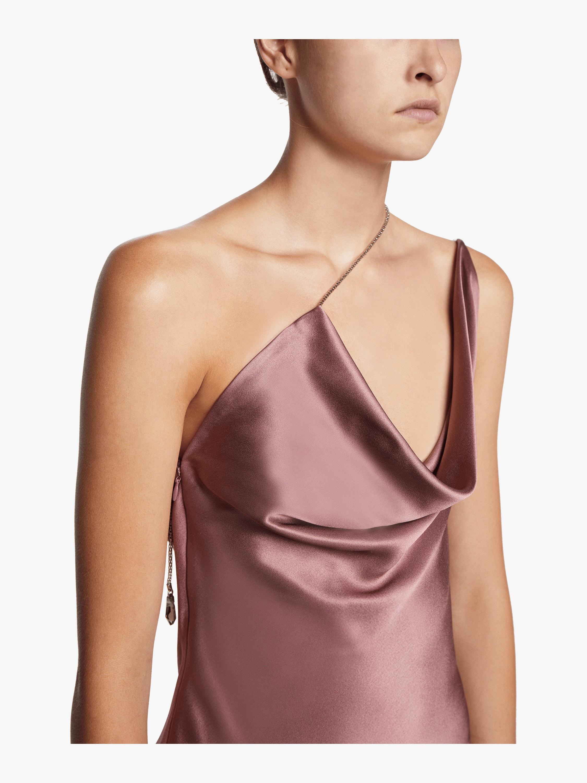 Asymmetrical Sleeveless Mini Dress Cushnie