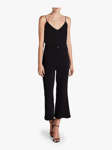 High Waisted Cropped Flare Pants
