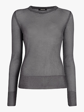 Sheer Metallic Knit Top