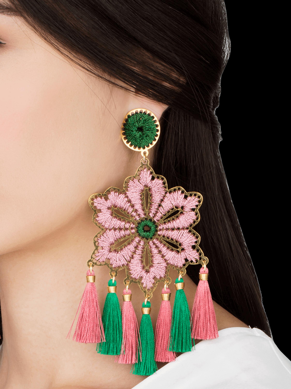 Rose Hibiscus Earrings