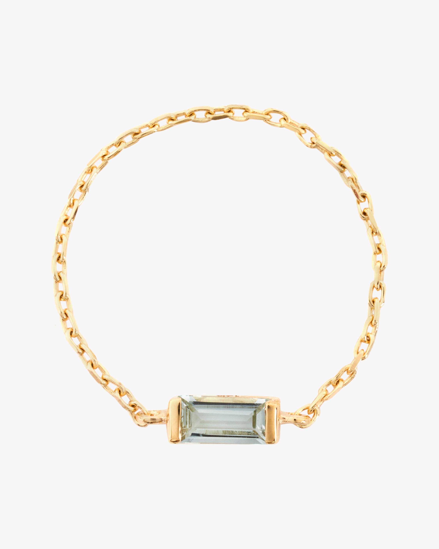 Yi Collection Aquamarine Chain Ring 1