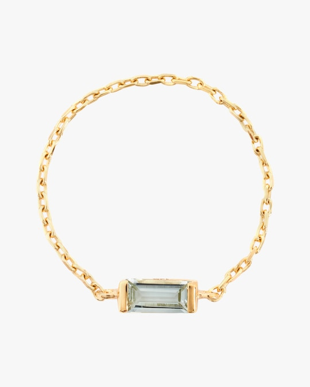 Yi Collection Aquamarine Chain Ring 0