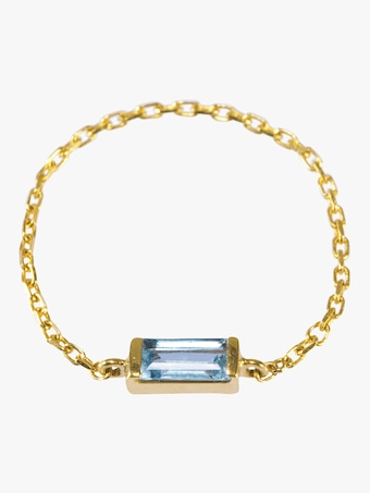 Yi Collection Aquamarine Chain Ring 2