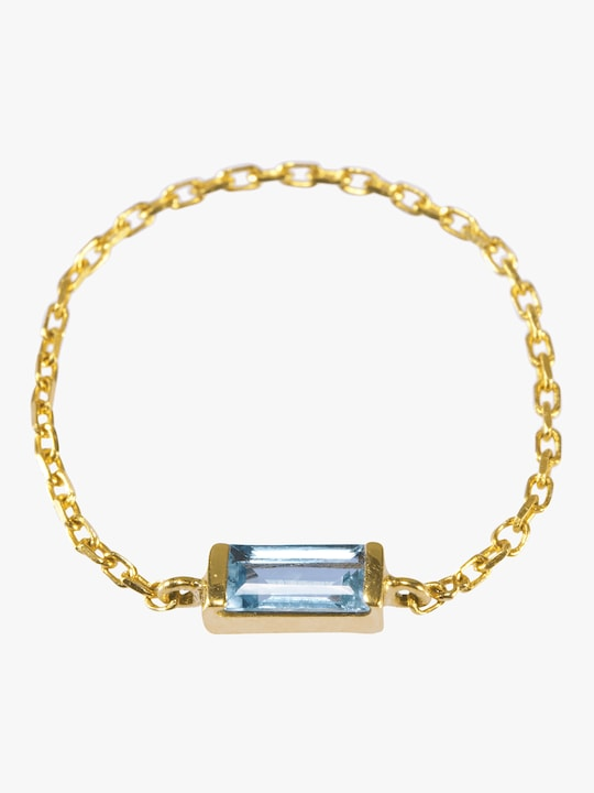 Yi Collection Aquamarine Chain Ring 0
