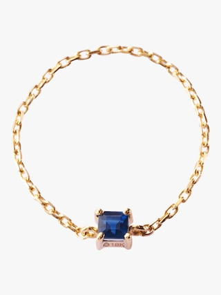 Yi Collection Sapphire Chain Ring 1