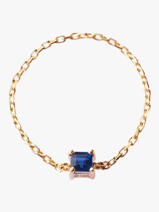 Yi Collection Sapphire Chain Ring 0