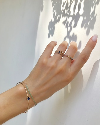 Yi Collection Sapphire Chain Ring 2