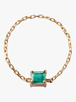 Yi Collection Emerald Chain Ring 1