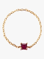 Yi Collection Ruby Chain Ring 0