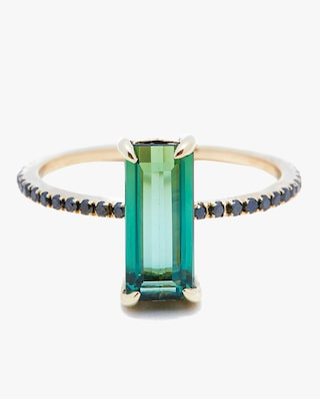 Yi Collection Tourmaline and Black Diamond Ring 1