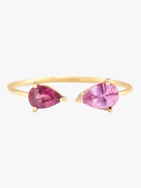 Ruby and Pink Sapphire Open Ring