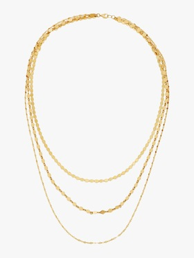 Triple Chain Layering Necklace