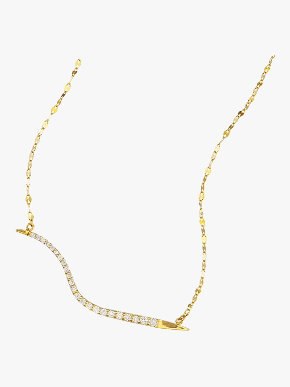 Diamond Electric Wavelength Necklace