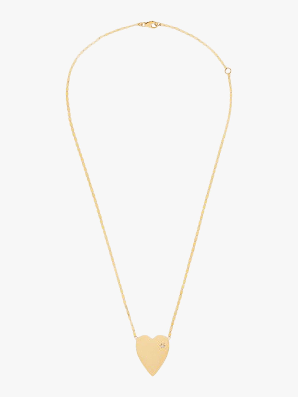 Diamond Heart Charm Necklace