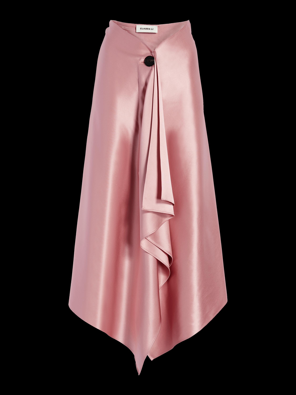 Silk A-Line Blanket Skirt