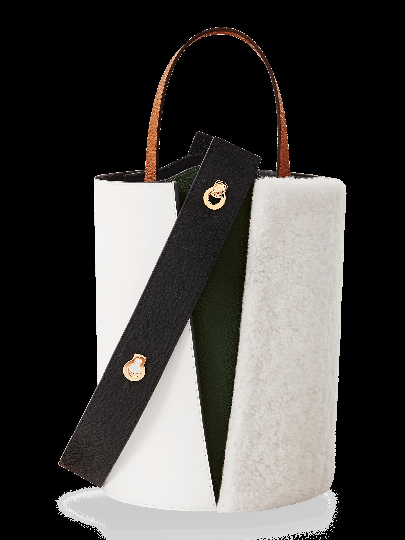 Mini Lorna Shearling Bucket Bag