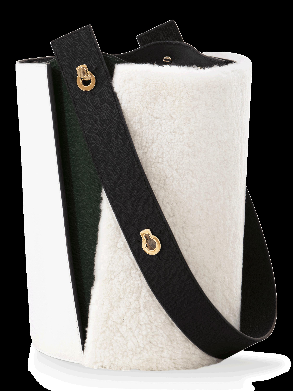 Danse Lente Mini Lorna Shearling Bucket Bag 2