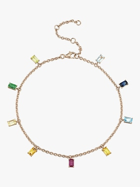 Rainbow Drop Anklet