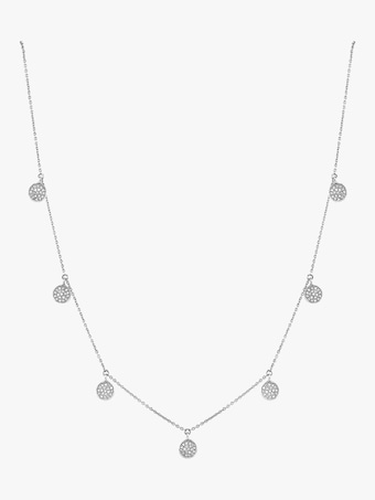 Pavé Diamond Dangle Drop Necklace