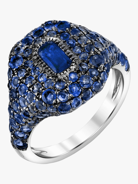Pavé Sapphire Pinky Ring