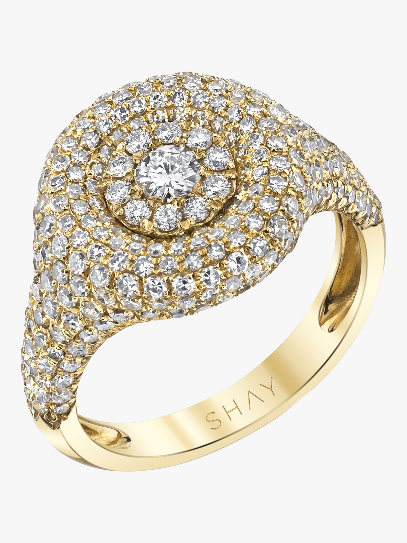 Pavé Circle Pinky Ring