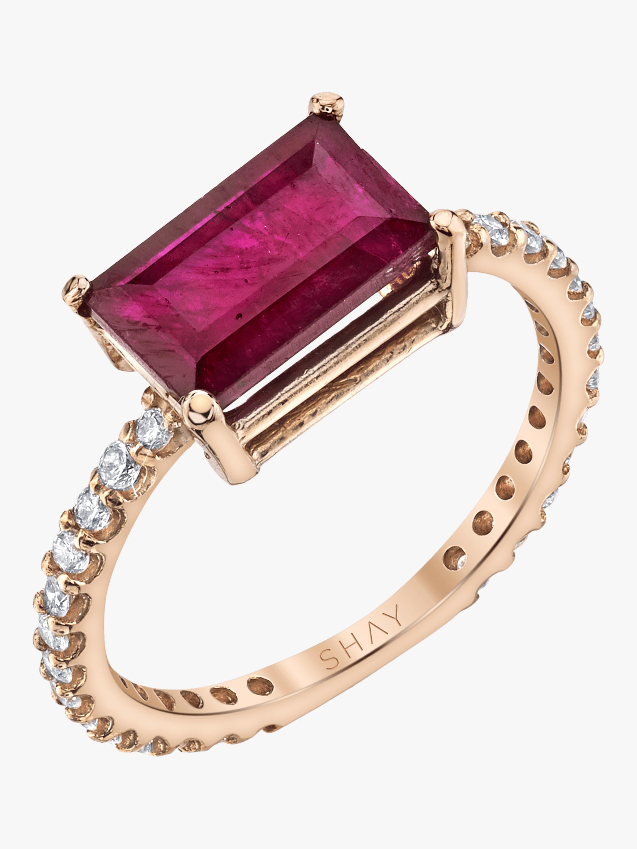 Ruby Emerald Cut Ring