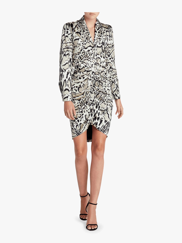 Silk Leopard Mini Dress