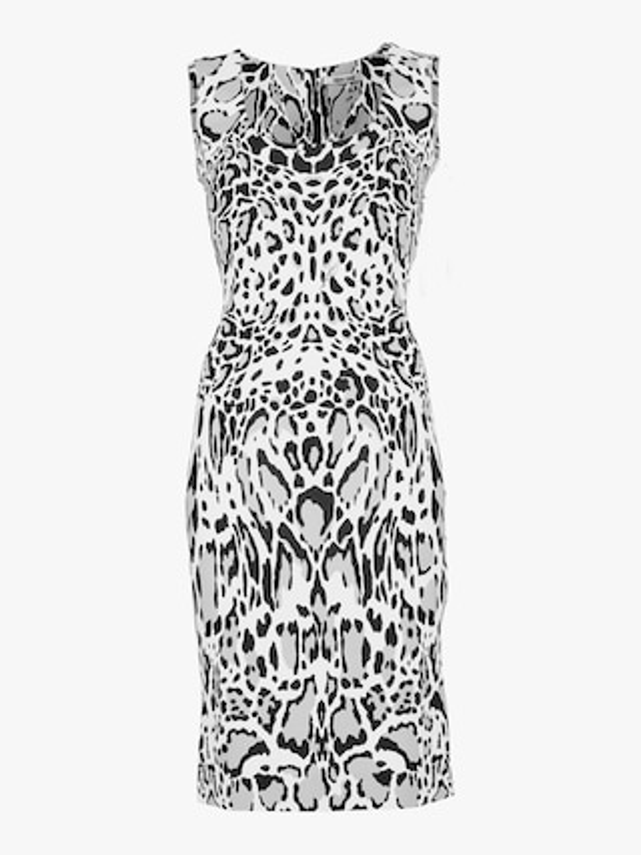 Sleeveless Silk Leopard Mini Dress