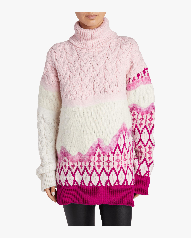 Riyu Intarsia Turtleneck Sweater Prabal Gurung