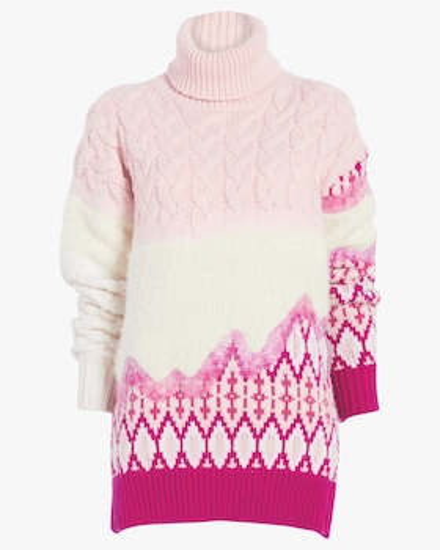 Riyu Intarsia Turtleneck Sweater