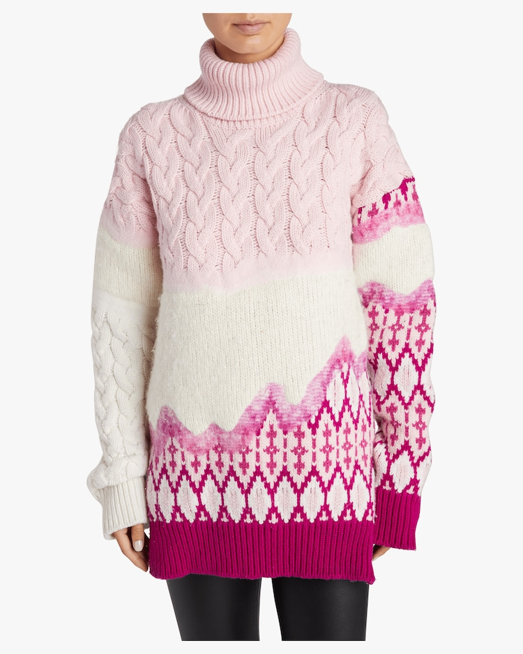 Riyu Intarsia Turtleneck Sweater Prabal Gurung