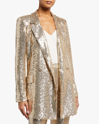 Badgley Mischka Sequin Blazer 1