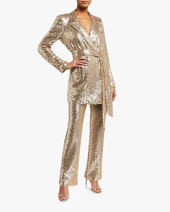 Badgley Mischka Sequin Blazer 2