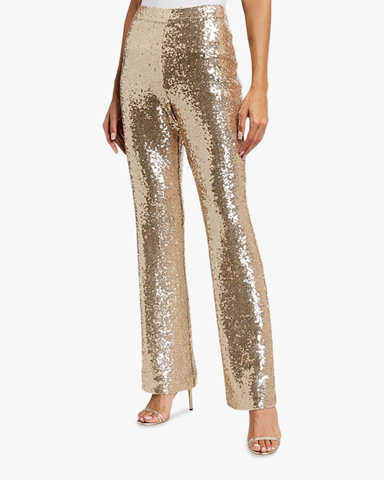 Badgley Mischka Sequin Pants 0