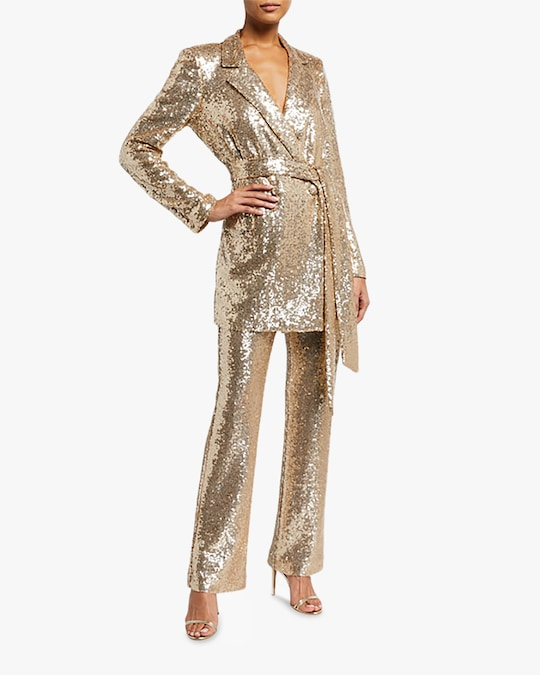 Badgley Mischka Sequin Pants 1