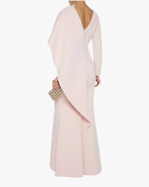 Badgley Mischka Asymmetrical Drape Gown 2