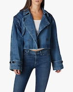 Hudson Cropped Trench Denim Jacket 3