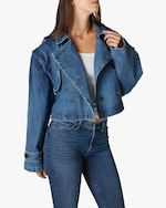 Hudson Cropped Trench Denim Jacket 4