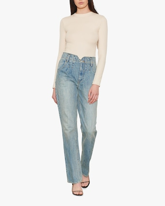 Hudson Pleated Denim Jeans 1