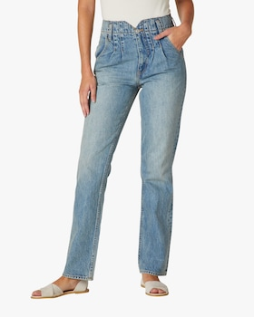 Pleated Denim Jeans