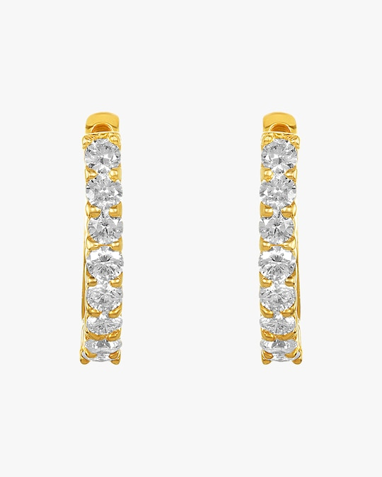 Amrapali Diamond Huggie Earrings 0