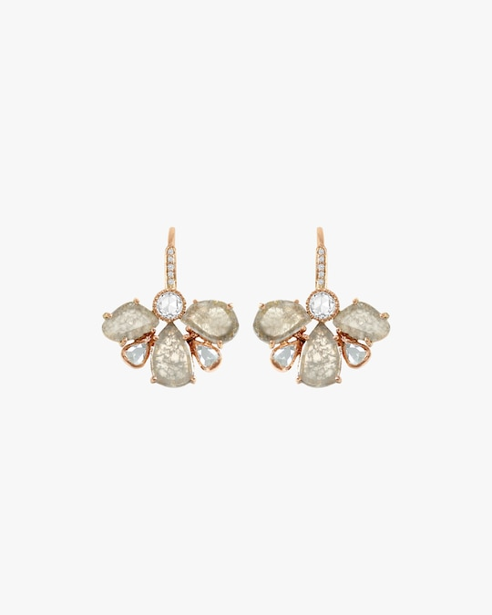 Amrapali Diamond Slice Petal Earrings 0