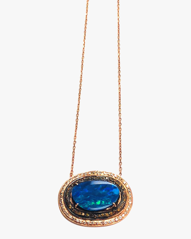 Amrapali Opal & Diamond Pendant Neckalce 2