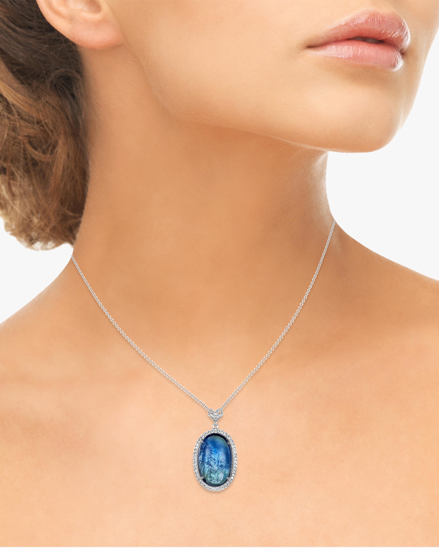 Amrapali Tanzanite & Diamond Pendant Necklace 1
