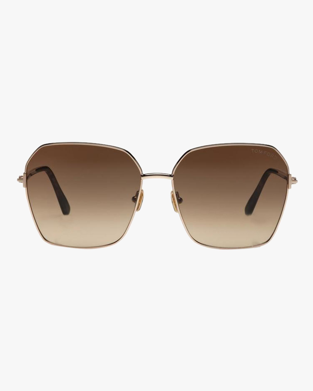 Tom Ford Claudia Aviator Sunglasses 0