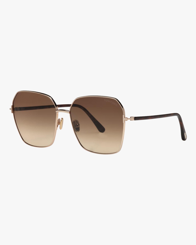 Tom Ford Claudia Aviator Sunglasses 1