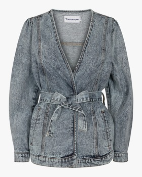 Hepburn Denim Wrap jacket
