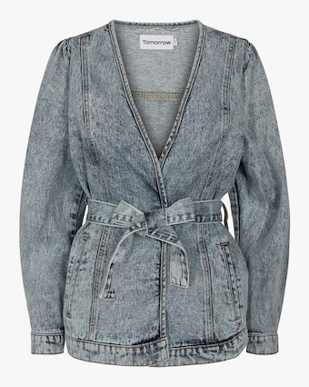 Tomorrow Hepburn Denim Wrap jacket 1