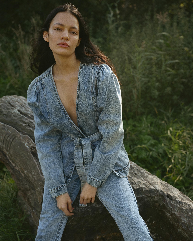 Tomorrow Hepburn Denim Wrap jacket 1